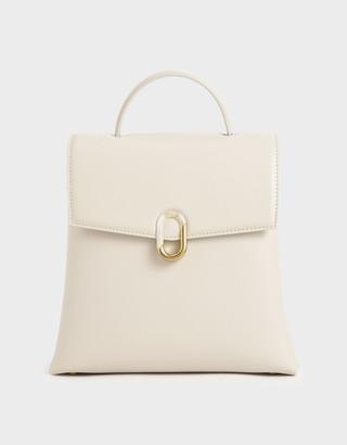 Charles & Keith Stone-Embellished Backpack