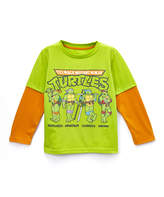 Freeze Lime Green TMNT Layered Tee - Toddler
