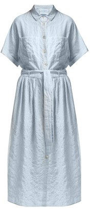 Loup Charmant Striped Cotton-blend Shirt Dress - Blue Stripe
