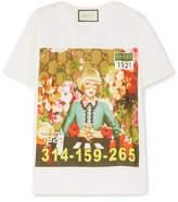 Gucci Oversized Printed Cotton-jersey T-shirt - White