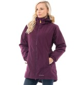 Trespass Womens Celebrity Insulated Waterproof Parka Jacket Potent Purple