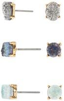 BaubleBar Meteorite Stud Earrings, Set of 6