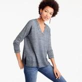 J.Crew Merino wool-linen V-neck sweater