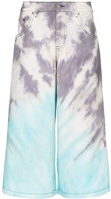 Liam Hodges Tie-Dye Long Denim Shorts