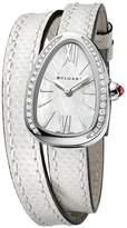 Bvlgari Mother-of-Pearl and Diamond Serpenti Watch 27mm