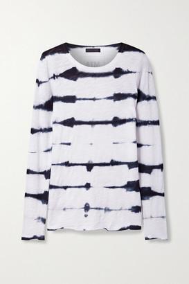 ATM Anthony Thomas Melillo Tie-dyed Slub Cotton-jersey Top - Black