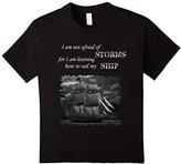 Men's Unafraid to Sail My Ship Inspirational Quote Sailing T-Shirt Small