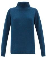 The Elder Statesman Highland High-neck Cashmere Sweater - Womens - Dark Green