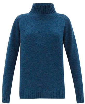 The Elder Statesman Highland High-neck Cashmere Sweater - Womens - Dark Green