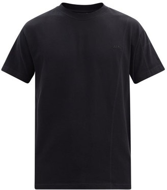 A-Cold-Wall* Logo-embroidered Cotton-jersey T-shirt - Black
