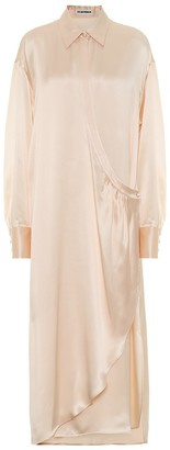 Jil Sander Silk-satin maxi dress