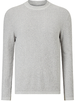 Samsoe & Samsoe Trisul Heavy Rib Cotton Jumper, Grey Melange