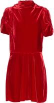 Etoile Isabel Marant Lazy short-sleeved velvet dress