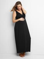 Maternity crossover maxi dress