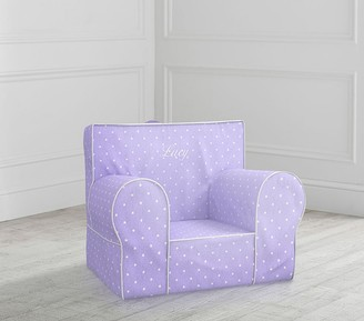 Pottery Barn Kids My First Lavender Pin Dot Anywhere Chair