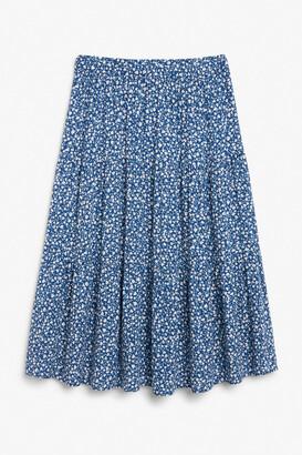 Monki Layered midi skirt