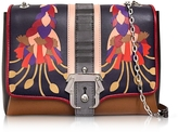 Paula Cademartori Alice Leather and Suede Shoulder Bag w/Chain