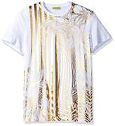Versace Men's Gold Print T-Shirt