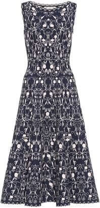 Alaia Printed crepe midi dress
