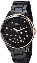 Jivago Women's JV2413 Sky Analog Display Swiss Quartz Black Watch