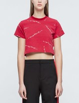 Joyrich Script Repeat Cropped T-Shirt