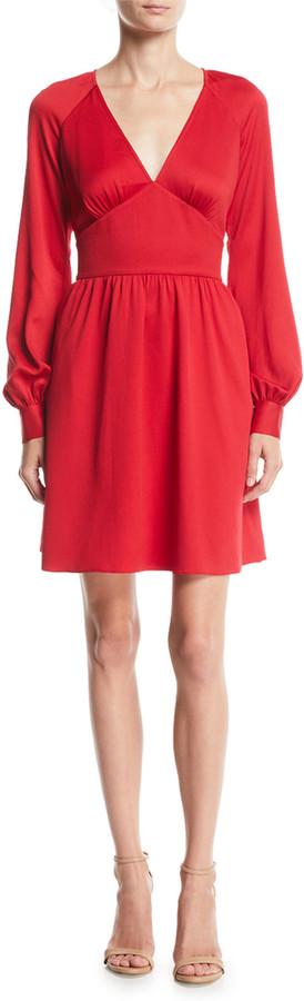 MICHAEL Michael Kors Short Raglan-Sleeve Cocktail Dress