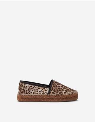Dolce & Gabbana Canvas Leopard Print Espadrillas
