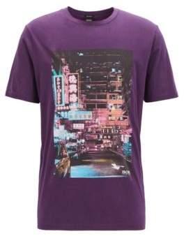 BOSS Regular-fit Pima-cotton T-shirt with photoprint
