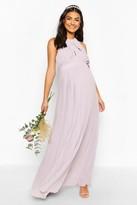 boohoo Maternity Wrap Detail Maxi Occasion Dress