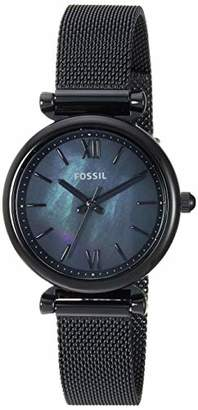 Fossil Women Mini Carlie Quartz Stainless Steel and Mesh Casual Watch Color: