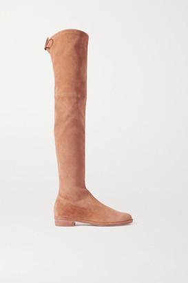 Stuart Weitzman Lowland Suede Over-the-knee Boots - Camel