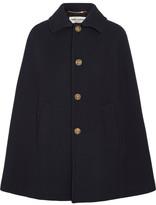 Saint Laurent Wool-blend Twill Cape - Midnight blue