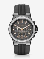 Michael Kors Dylan Pave Gunmetal Silicone Watch
