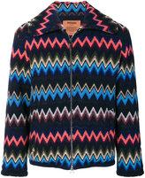 Missoni chevron zip up jacket