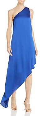 Laundry by Shelli Segal One-Shoulder Asymmetric Gown