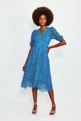 Karen Millen Cutwork Lace Midi Dress