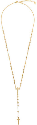 DSQUARED2 Gold Beaded Cross Necklace