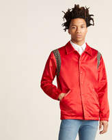 Just Don Leather-Trimmed Reversible Jacket