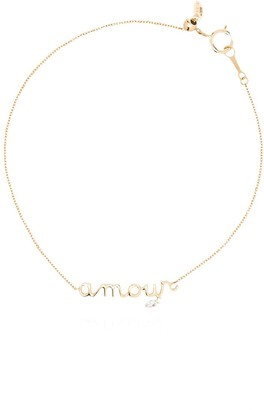 PERSÉE 18kt yellow gold diamond Amour bracelet