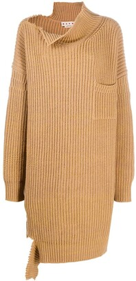 Marni Distressed Knitted Long Jumper