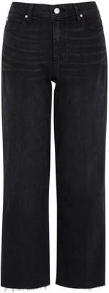 Paige Nellie Culotte Black Cropped Wide-leg Jeans