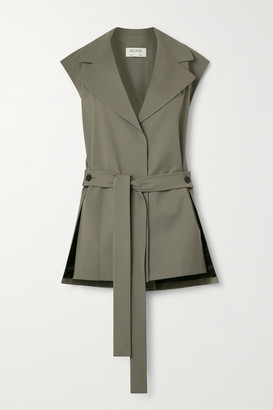 GAUCHERE Romie Belted Stretch-wool Vest - Beige