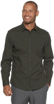 Apt. 9 Men's No-Iron Modern-Fit Solid Button-Down Shirt