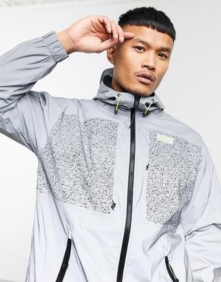 Bershka reflective jacket in silver