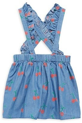 Stella McCartney Baby Girl's Cherry-Print Cotton-Blend Romper Skirt