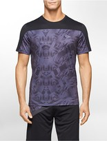 Calvin Klein Performance Abstract Print Mesh Short Sleeve Shirt
