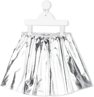 Douuod Kids Flared Metallic Skirt