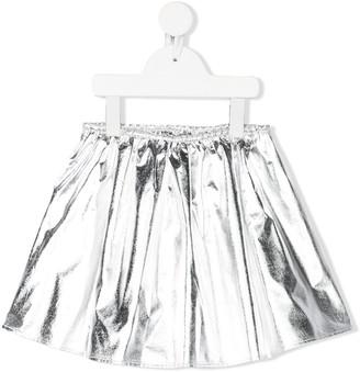 Douuod Kids Flared Metallic Skirt