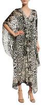 Roberto Cavalli Leopard-Print Silk Caftan, Leopard