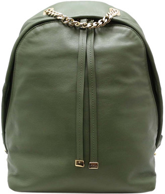 Furla Green Leather Backpack
